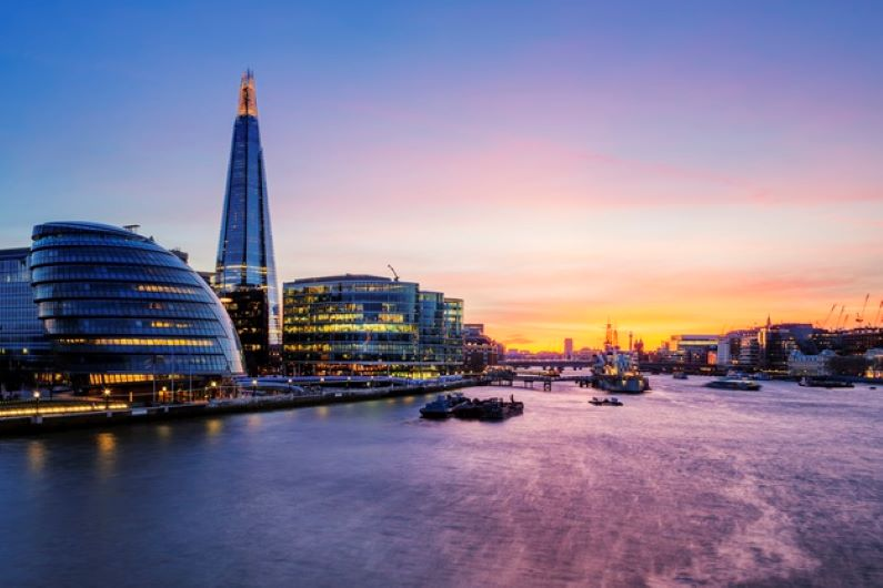 london city sunset
