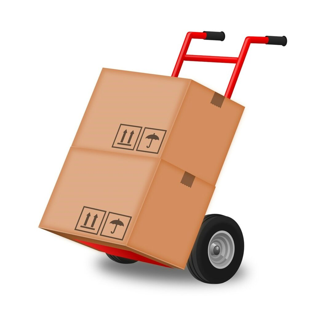 moving packed belonging